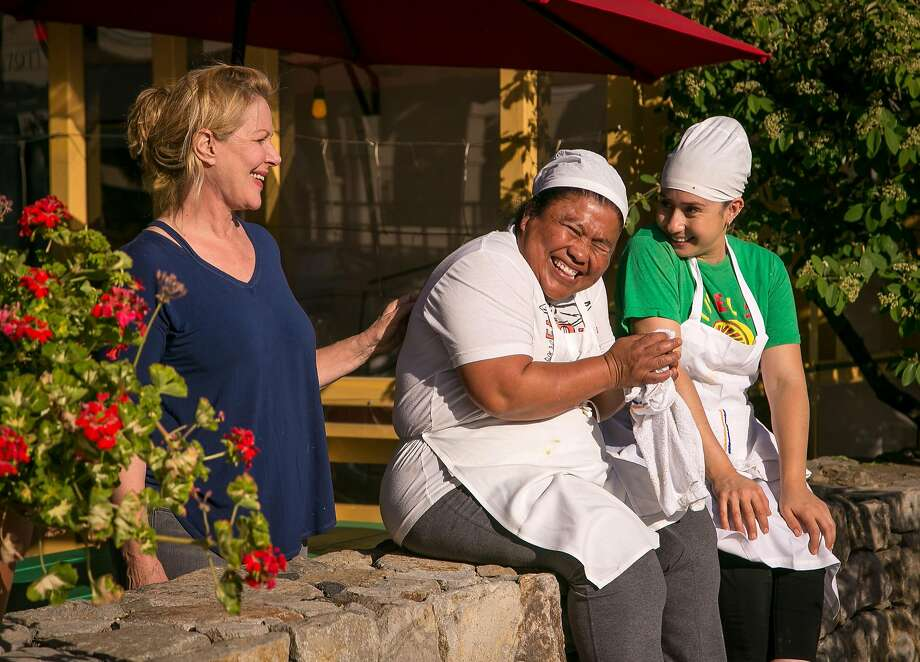 El Molino Central owner Karen Taylor (left), Alfonsina Juarez and Alma Blanco at the restaurant in Boyes Hot Springs. Photo: John Storey, Special To The Chronicle