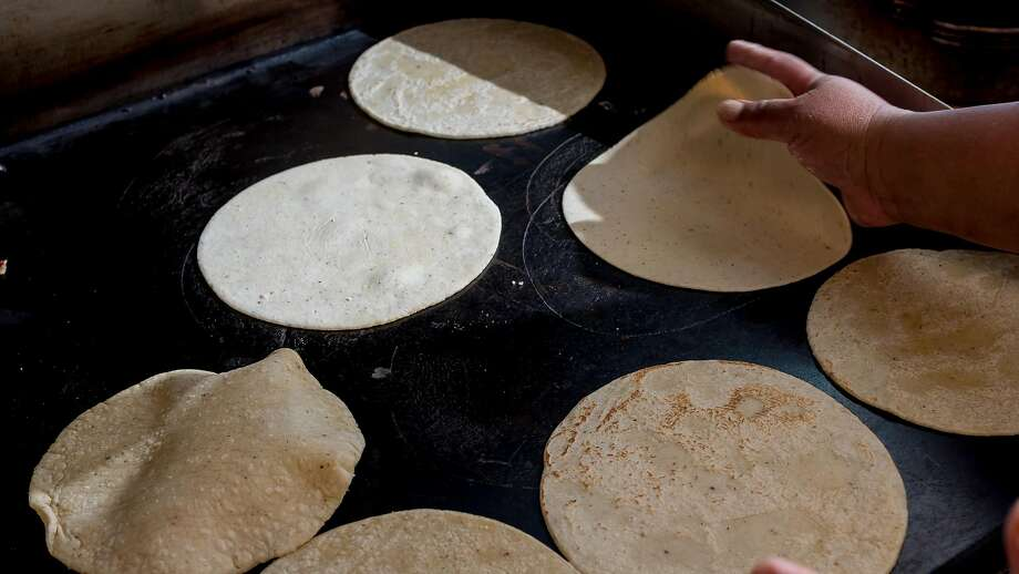 Fresh homemade tortillas at El Molino Central. Photo: John Storey, Special To The Chronicle