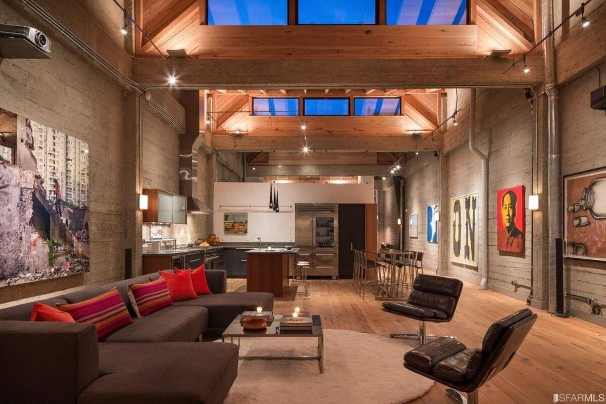 The loft has around 3,500 square feet. Photos: Payton Stiewe, Pacific Union International Inc.