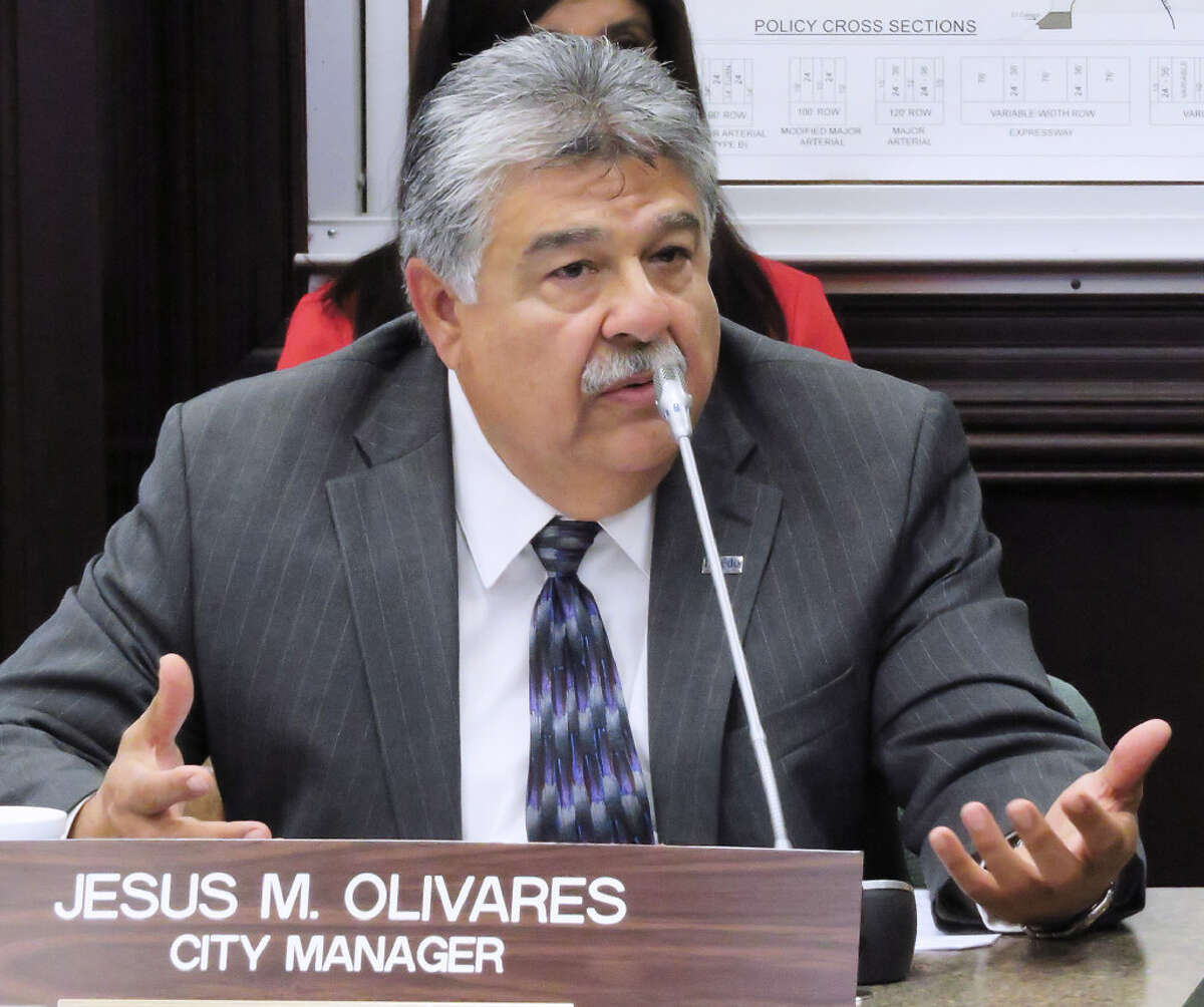 City Manager Jesus Olivares at a City Council meeting last week. Olivares announced his retirement on May 16 in the fallout from FBI raids in Laredo. Click through the gallery to see the things to know about the raids.