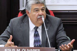 City Manager Jesus Olivares at City Council special meeting of, May 8, 2017.