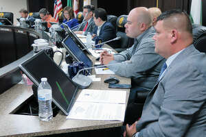 Council members and Mayor at City Council special meeting of, May 8, 2017.