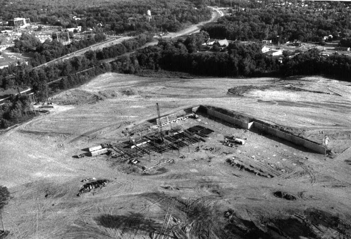 An aerial view of what would become the Crossgates Mall in August 1983.