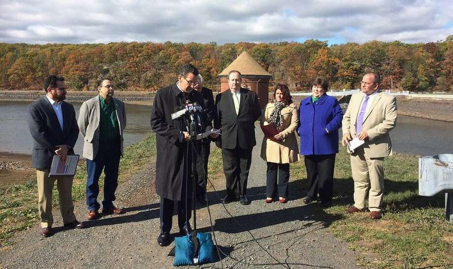 Gov. Dannel P. Malloy and state officials announce the Connecticut's first ever drought watch on Oct. 28, 2016. Malloy ordered the drought watch after three years of below-normal rainfall. On Monday, May 8, 2017 state officials announced the drought watch over. Photo: /