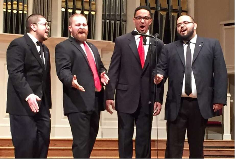 Members of Southern Company,the 2016 Southwestern District Quartet Champions, are featured barbershop singers during the May 13 Statesmen Chorus Good Times Show in Grace Bible Church, 13700 Schroeder Road, Houston, 77070. The four part a cappella shows are at 2 and 6 p.m. Afternoon tickets cost $10 each and include popcorn and colas; evening performance cost $20 each and include Mexican food and colas. Reserve at www.TheStatesmenChorus.org.
