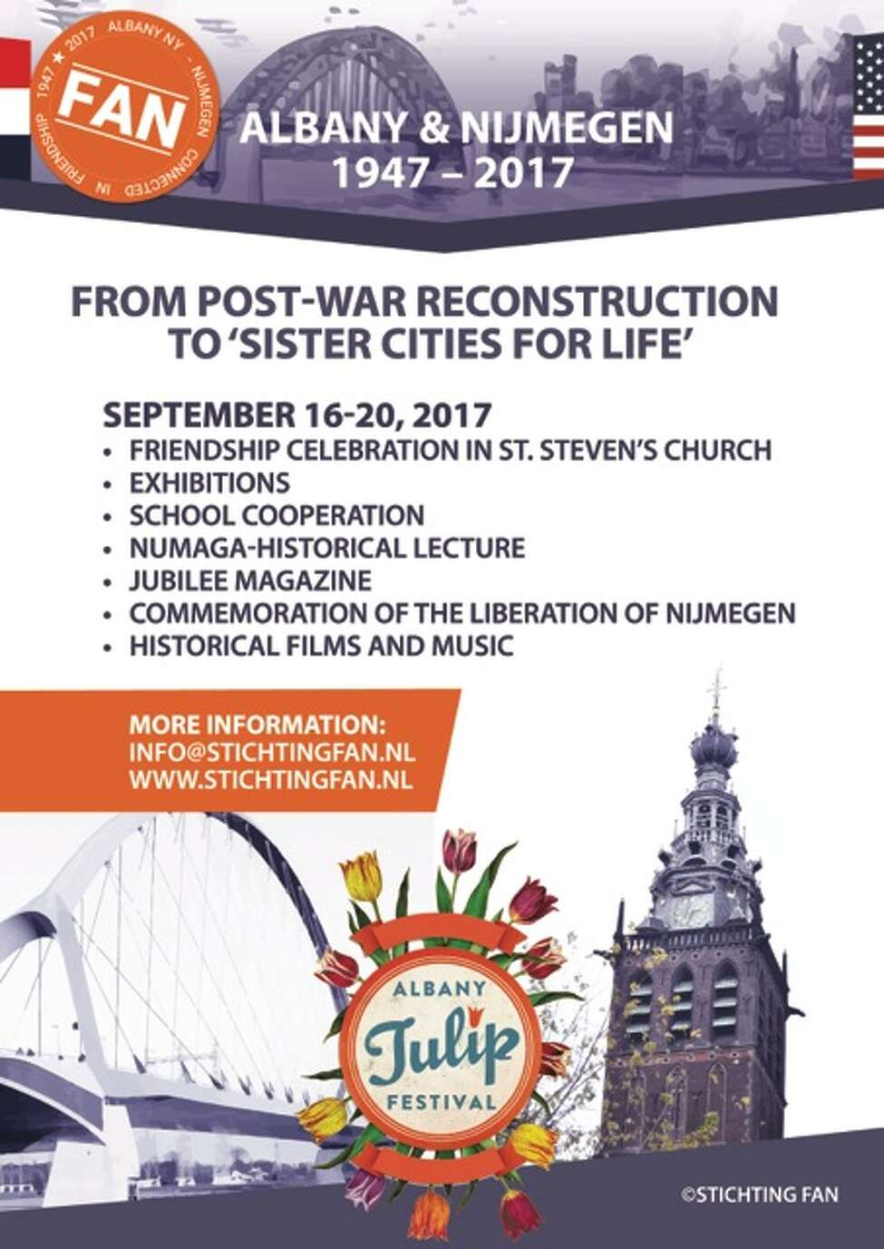This year's events surrounding the connection between sister cities Albany and Nijmegen.