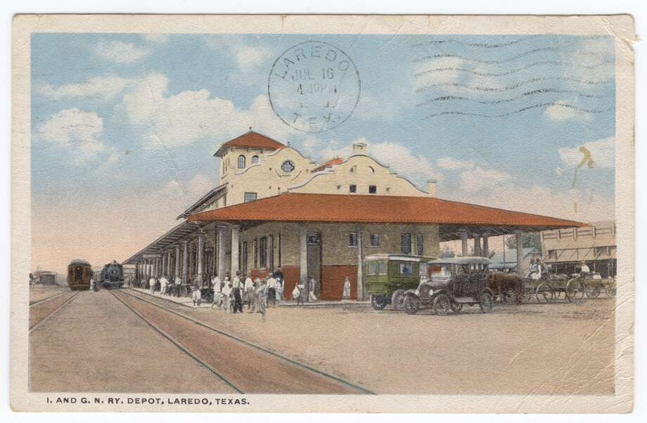 The '20s:The International and great Northern Railway Depot is shown. Photo: Laredo Public Library