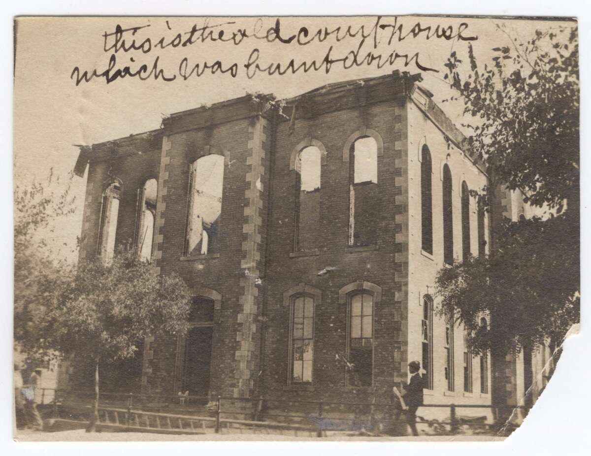 Ruins of the first Webb County Courthouse, 1906 Laredo, Texas