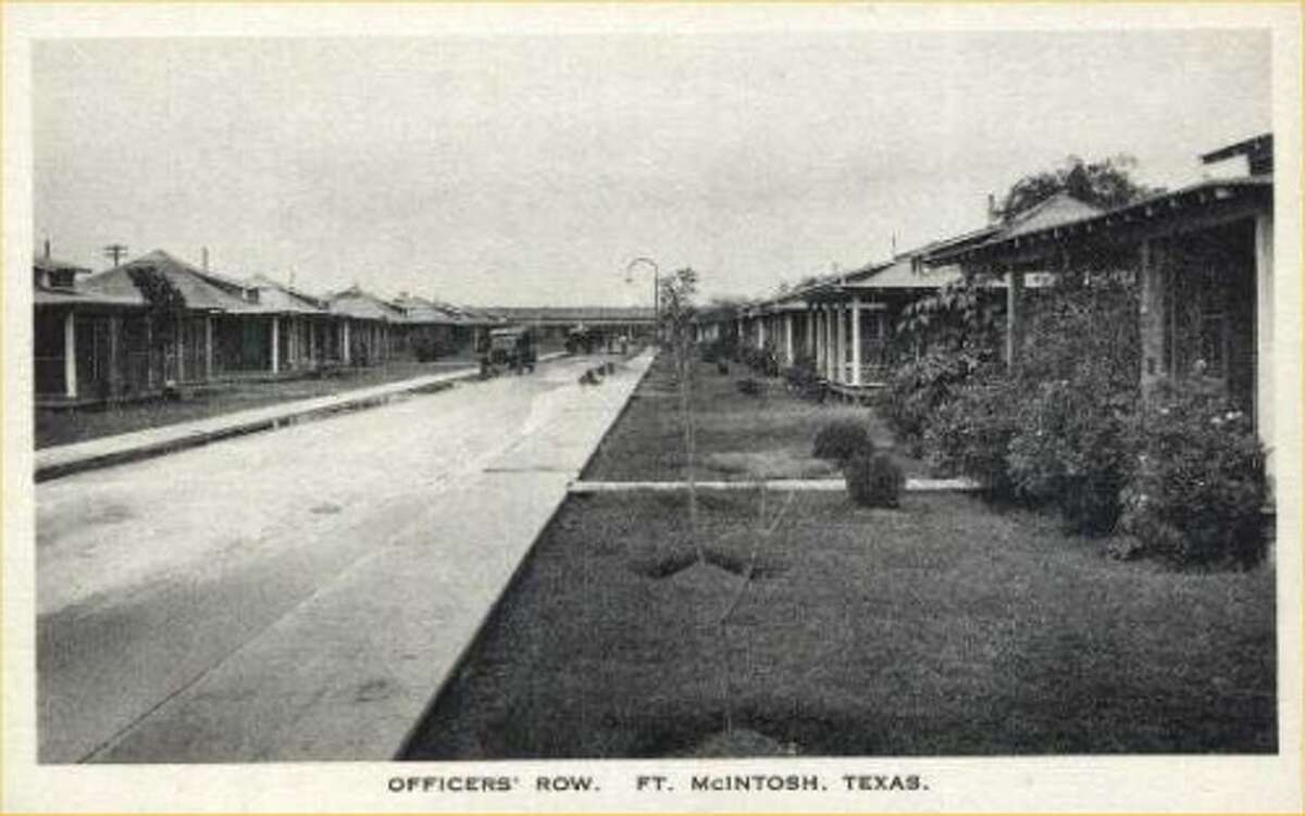 The '20s: Ft. McIntosh Texas Officers Row in Laredo is shown.