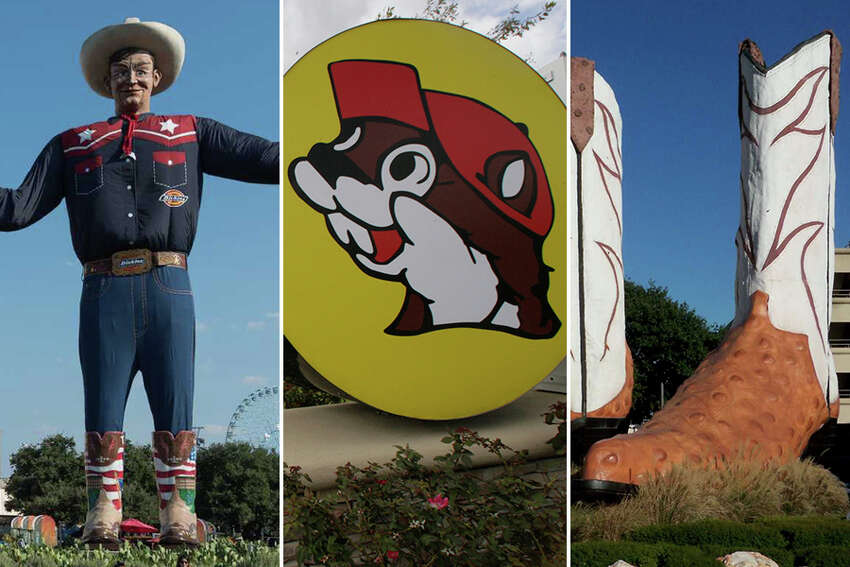 Photos that prove things in Texas are as big as a Texans' ego Keep clicking to see a collection of over-the-top Texas-sized statues, tacos and more.