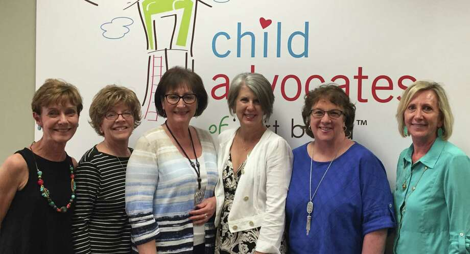 Local Kappa Alpha Theta sorority members toured Child Advocates of Fort Bend's offices in Rosenberg recently to learn more about the agency and the children it serves. From left are: Kathryn Farris, Lucy Moore, Roseann Stanley, Barbara Marlin, Mary Carlson and Kathy Schultz. Photo: Child Advocates Of Fort Bend