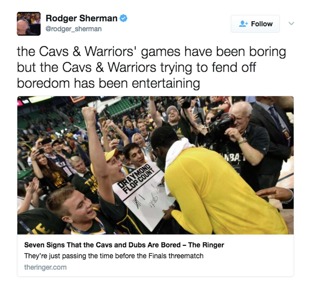 Fans on Twitter react to the Warriors'