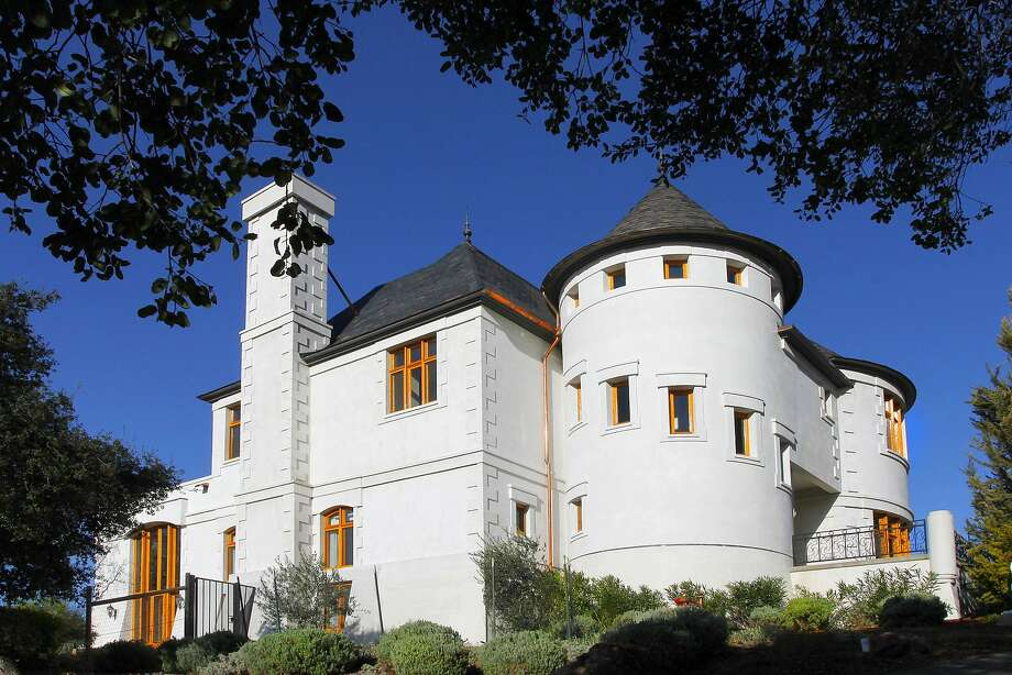 The St. Helena home features a fortress-like appearance in Wine Country. Photo: Jack Journey