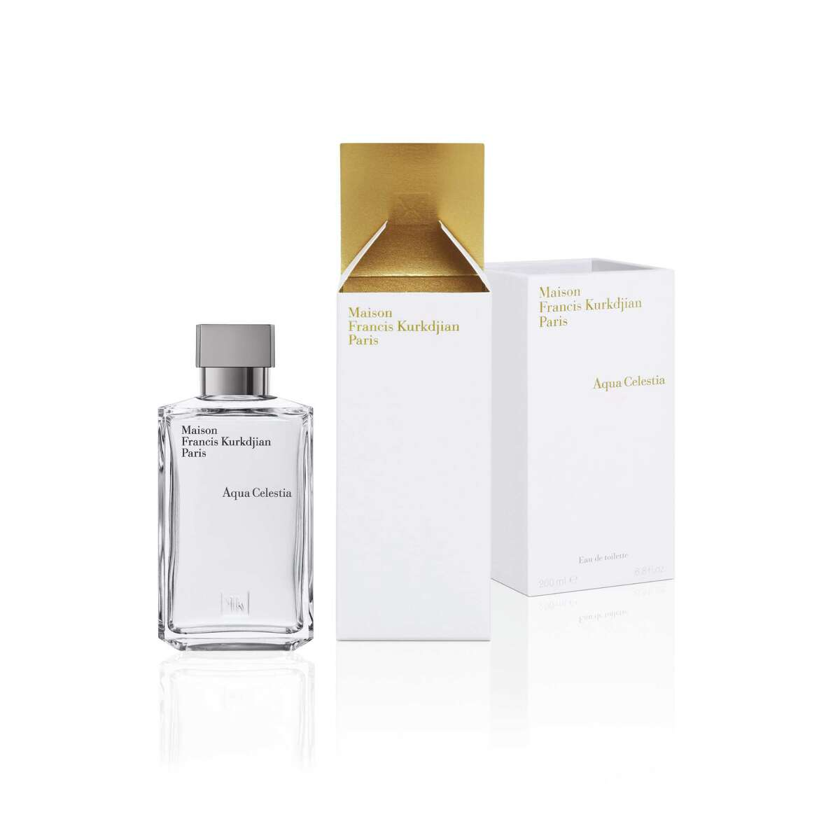 Aqua Celestia is a new fragrance from Maison Francis Kurkdjian featuring the fresh notes of lime, mint, blackcurrant, mimosa blossoms and musk.