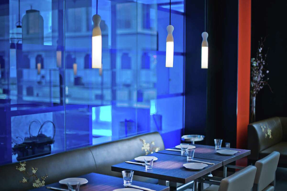 Details of the dining room at the new Yauatcha restaurant in Houston.