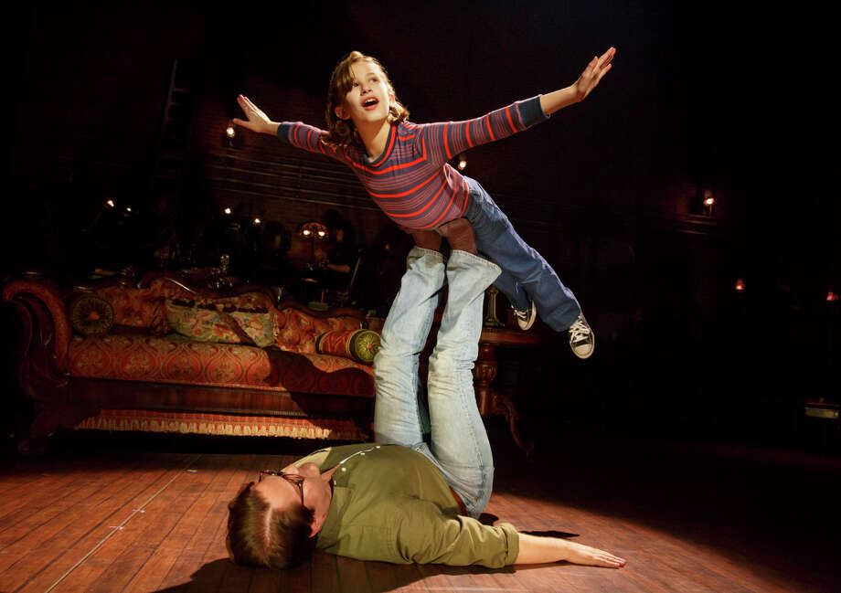 Alessandra Baldacchino as 'Small Alison' and Robert Petkoff as 'Bruce' in Fun Home Photo: Courtesy Theatre Under The Stars / ©2016 Joan Marcus