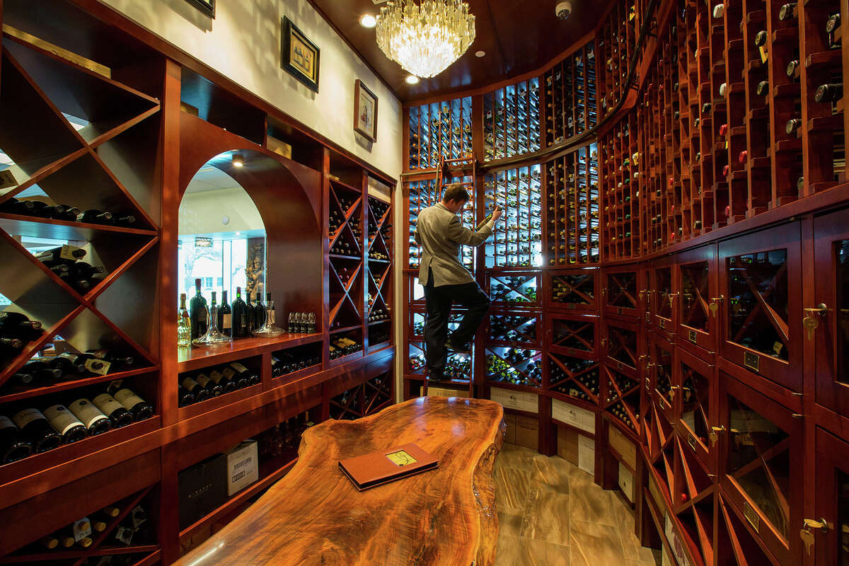 The wine room at the new Kiran's restaurant was built with wine lockers for its best wine-drinking customers.