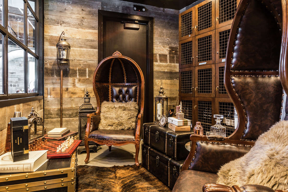 Bosscat Kitchen & Libations in River Oaks has a special whiskey room fitted with 30 whiskey lockers for VIP guests.