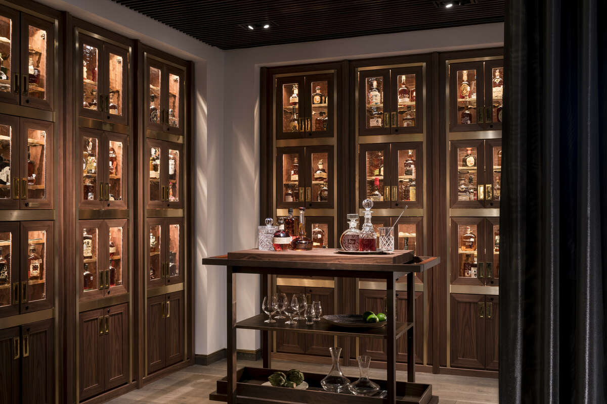 When Bayou & Bottle opened at the Four Seasons Hotel Houston the redesign of the restaurant and bar space included a nook with bourbon lockers for customers who enjoy high-end whiskey.