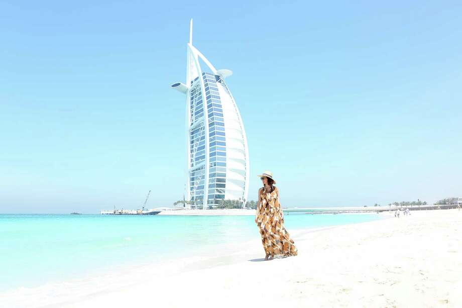 Lifestyle blogger Carrie Colbert in Dubai Photo: Wear Where Well