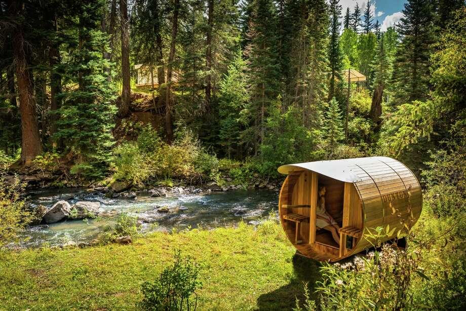 The sauna at Dunton River Camp