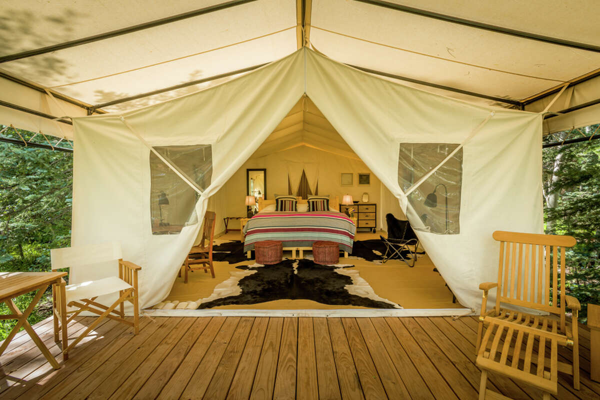 Dunton River Camp in Cresto Ranch, Colo., has eight glamping tents.