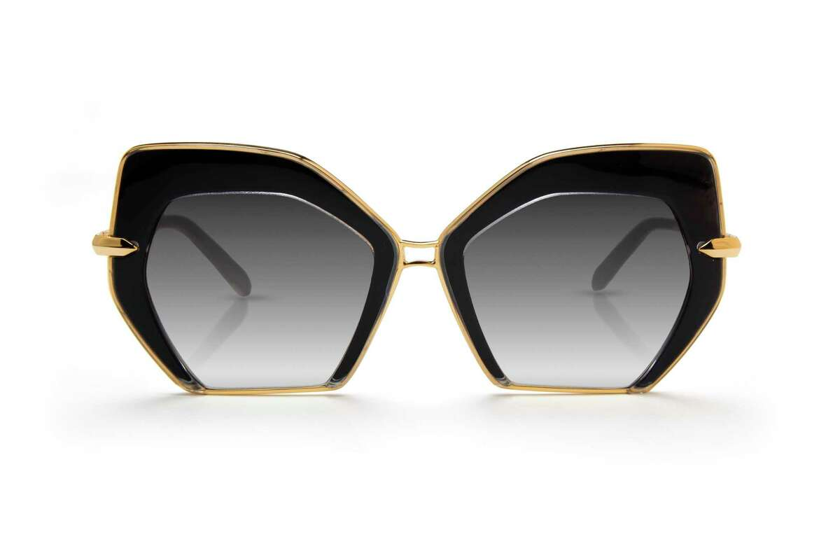 Krewe Octavia Crystal & Black 24K sunglasses, $315