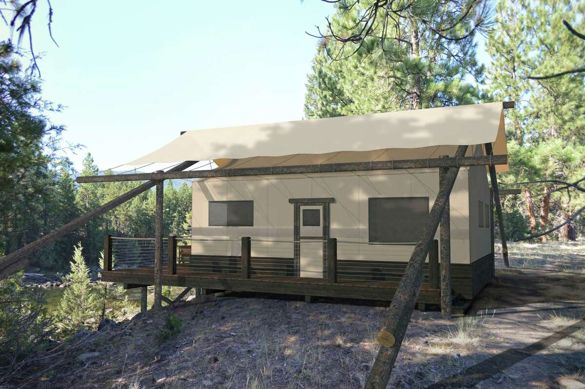 The Resort at Paws Up in Montana is unveiling its most luxurious camp yet, North Bank Camp, in June 2017. Tents will have three bedrooms and the dining pavilion is expansive.