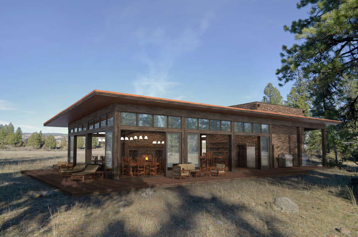 The Resort at Paws Up's new North Bank Camp will have a scenic dining pavilion.
