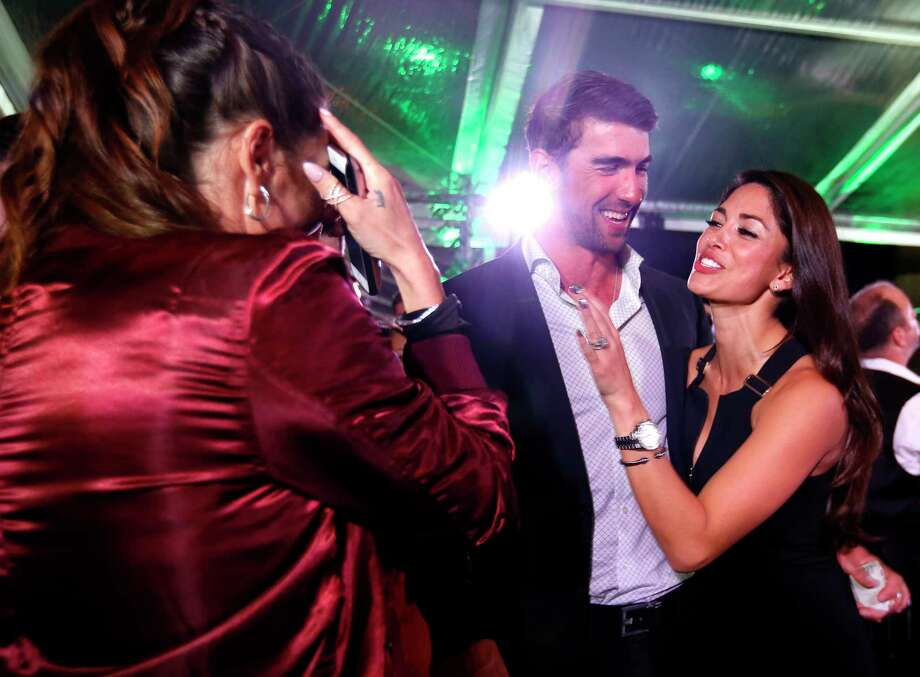 "Michael and Nicole Phelps will attend the 12th annual ""Evening With a Legend,"" benefiting Texas Children's Cancer Center. Photo: Annie Mulligan, Freelance / @ 2017 Annie Mulligan & the Houston Chronicle"