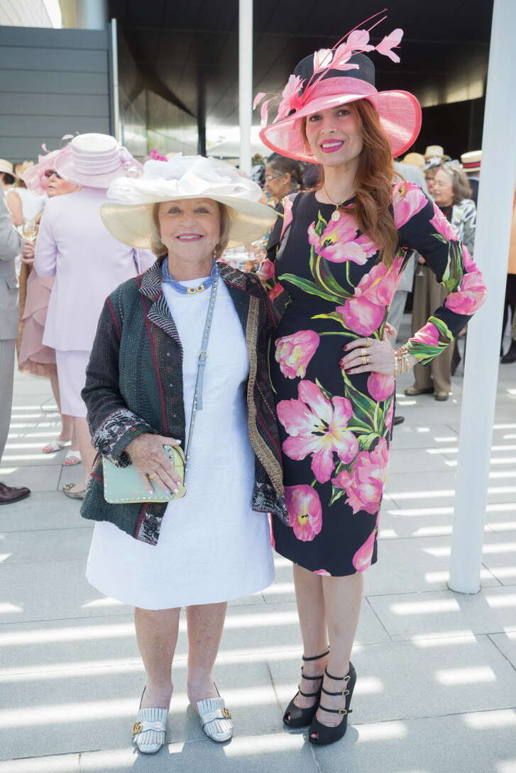 Bette Pesikoff and Karina Barbieri at the Hats in the Park luncheon in Hermann Park Thursday March 30, 2017 in Houston, TX. (Michael Starghill, Jr.)