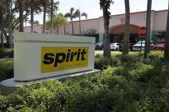 MIRAMAR, FL - MAY 09:  A sign is seen outside of the Spirit Airlines headquarters building on May 9, 2017 in Miramar, Florida. Yesterday a chaotic scene erupted at the Spirit Airlines counter at the Fort Lauderdale-Hollywood International Airport after flights were canceled which led to passengers getting irate and the police had to move in to restore order. Spirit blamed the delays on its pilots, who are negotiating for a new contract.  (Photo by Joe Raedle/Getty Images)