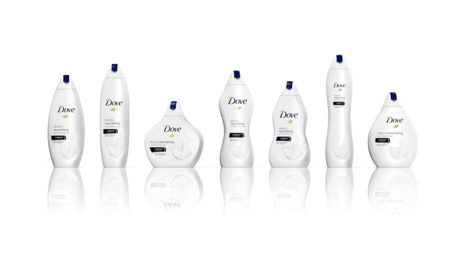 The new line of Dove body wash, available in the U.K. Photo: Dove
