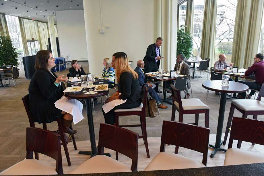 People dine at Cornerstone restaurant located at the Empire State Plaza Thursday, April 6, 2017 in Albany, N.Y.(Lori Van Buren / Times Union) Photo: Lori Van Buren / 20040168A