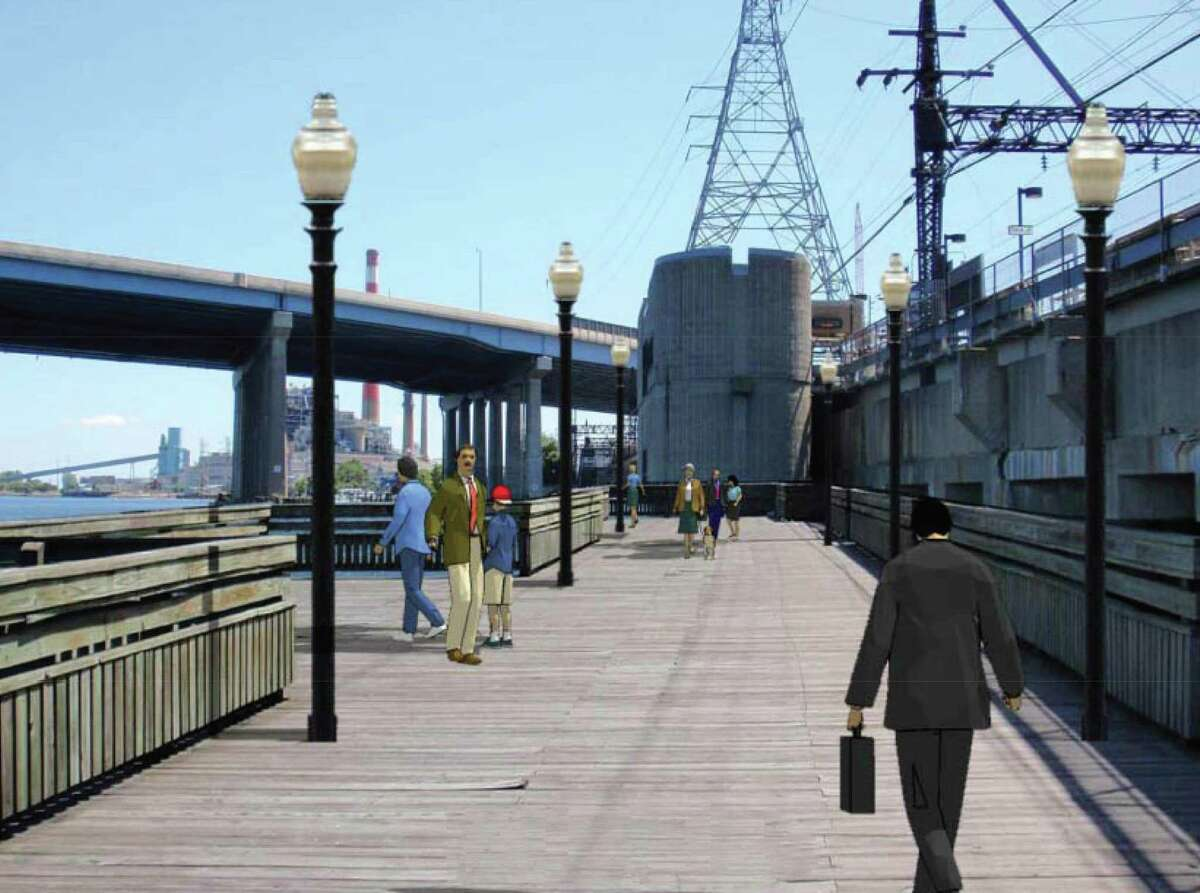 Renderings from Mayor Joe Ganim?'s $185 million vision for a downtown arts and entertainment district pamphlet which was handed out state lawmakers to try to sell the idea to Gov. Dannel Malloy and the General Assembly.