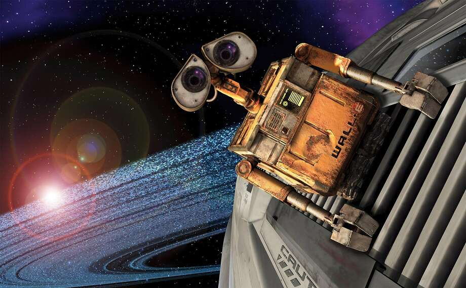 "In this image released by Walt Disney Co., a scene from the Disney/Pixars animated feature, ""Wall-E"" is shown. The film, a story of one robots comic adventures as he chases his dream across the galaxy, is set for release on June 27. (AP Photo/Walt Disney Co.) ** NO SALES ** Photo: AP"