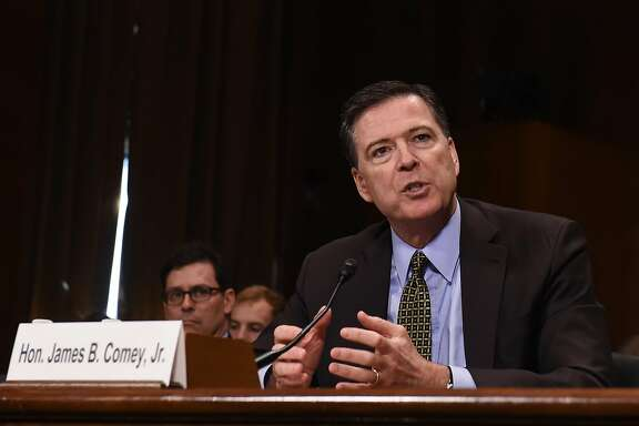 FBI Director James Comey testifies before the Senate Judiciary Committee hearing on Capitol Hill in Washington, D.C., on May 3, 2017. (Bao Dandan/Xinhua/Sipa USA/TNS)