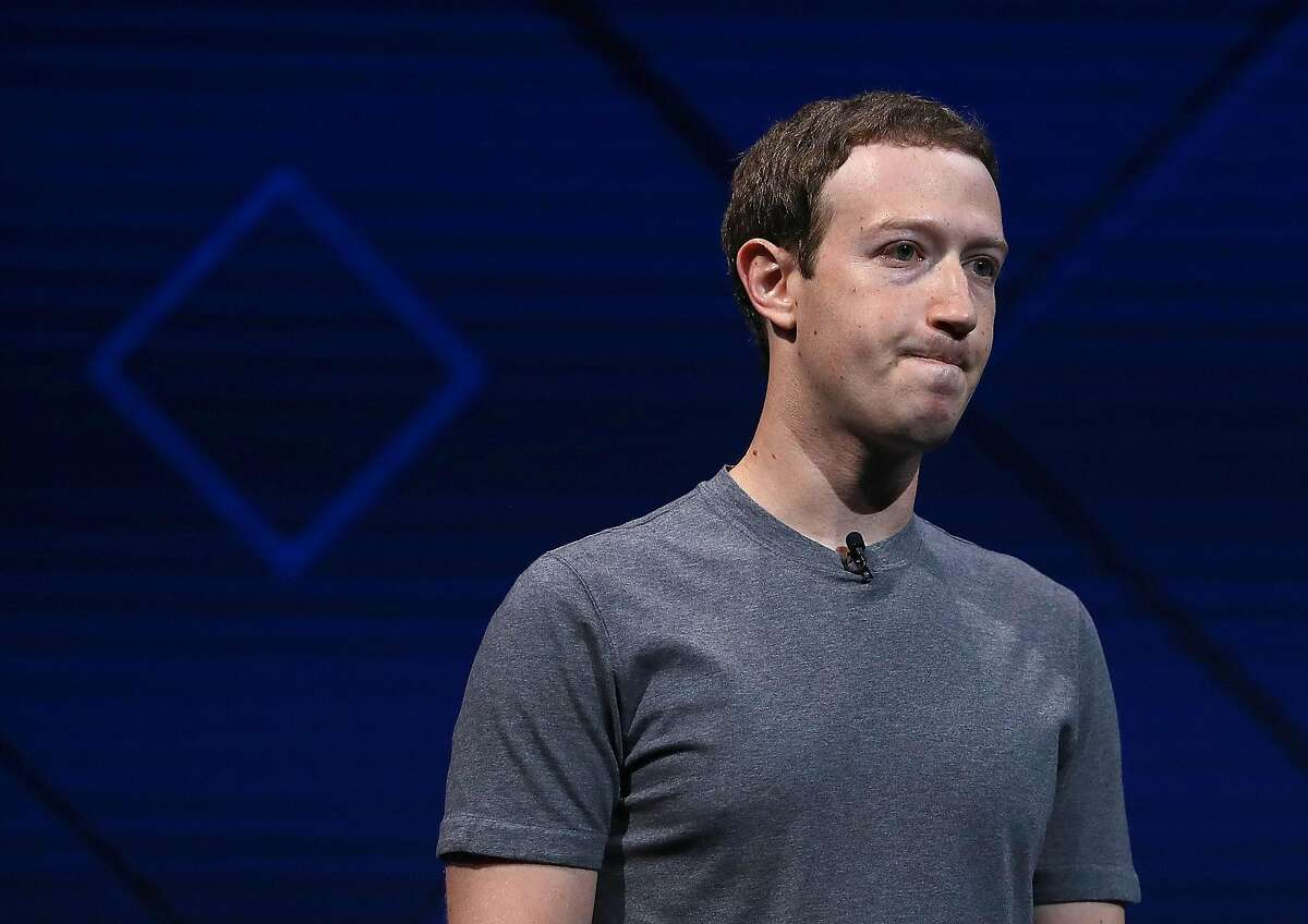 SAN JOSE, CA - APRIL 18: Facebook CEO Mark Zuckerberg delivers the keynote address at Facebook's F8 Developer Conference on April 18, 2017 at McEnery Convention Center in San Jose, California.