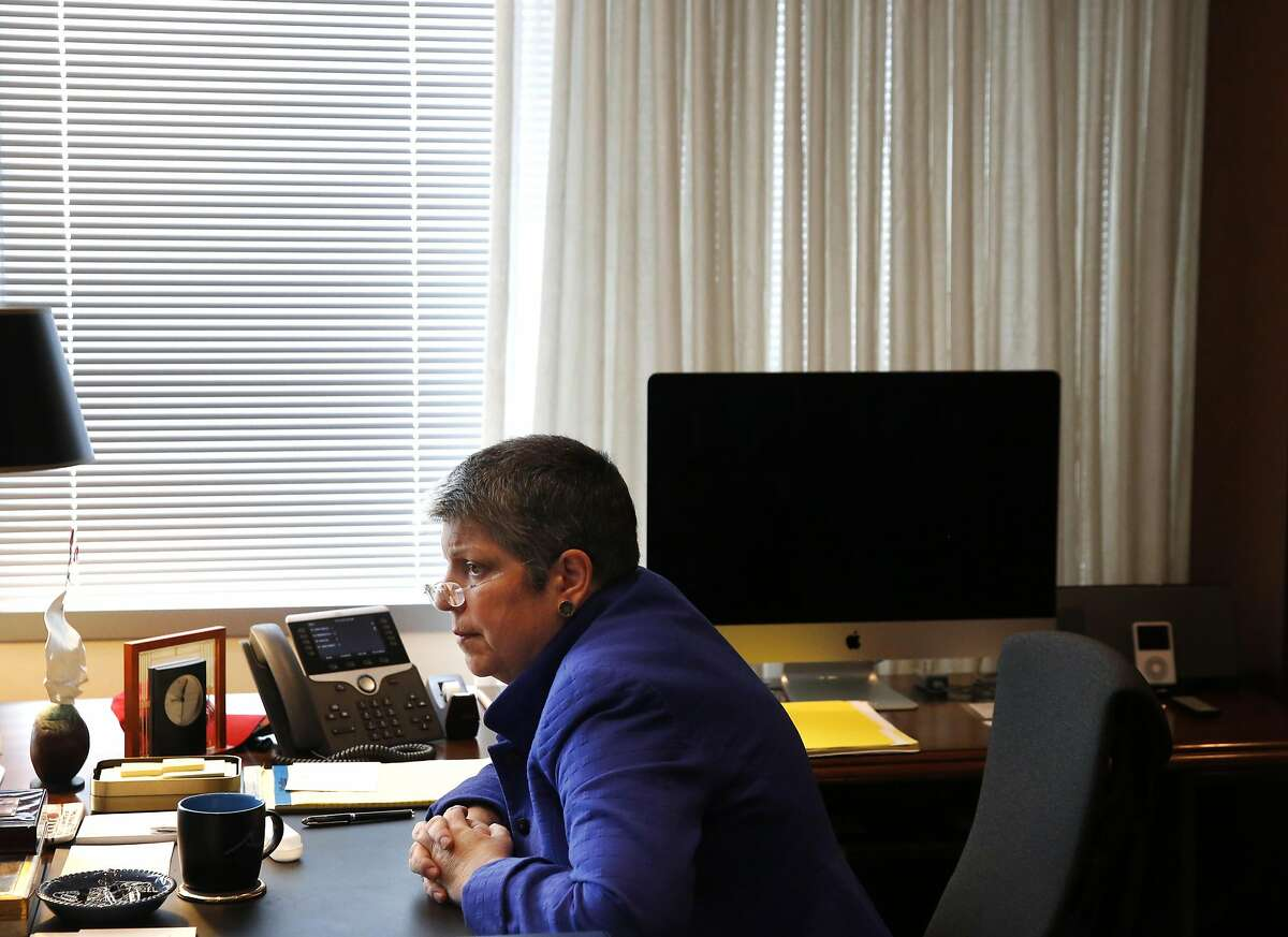 A 2016 file photo of UC President Janet Napolitano in her Oakland office.