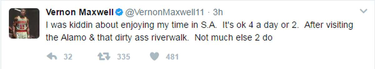 Ex-Spur Vernon Maxwell rips the city of San Antonio along with his former team.