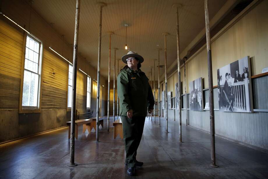AISP Superintendent Amy Brees stands in a room of the former immigration center on Angel Island State Park, California, on Monday, Dec. 28, 2015. Photo: Connor Radnovich, The Chronicle
