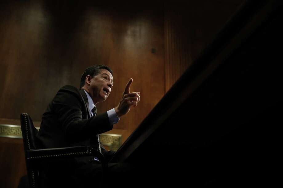 """FBI Director James Comey testifies on Capitol Hill in Washington, Wednesday, May 3, 2017, before the Senate Judiciary Committee hearing: """"Oversight of the Federal Bureau of Investigation."""" (AP Photo/Carolyn Kaster) Photo: Carolyn Kaster, STF / Associated Press / Copyright 2017 The Associated Press. All rights reserved."""