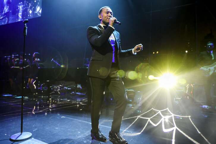 John Legend performs at Time magazine�s annual �100 Most Influential People� gala at the Lincoln Center in New York, April 25, 2017. (Krista Schlueter/The New York Times)