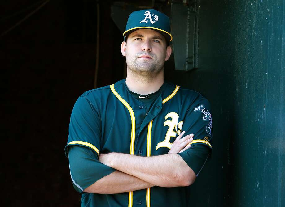 Athletics pitcher Andrew Triggs on Tuesday, May 9, 2017, in San Francisco, Calif. Photo: Liz Hafalia, The Chronicle