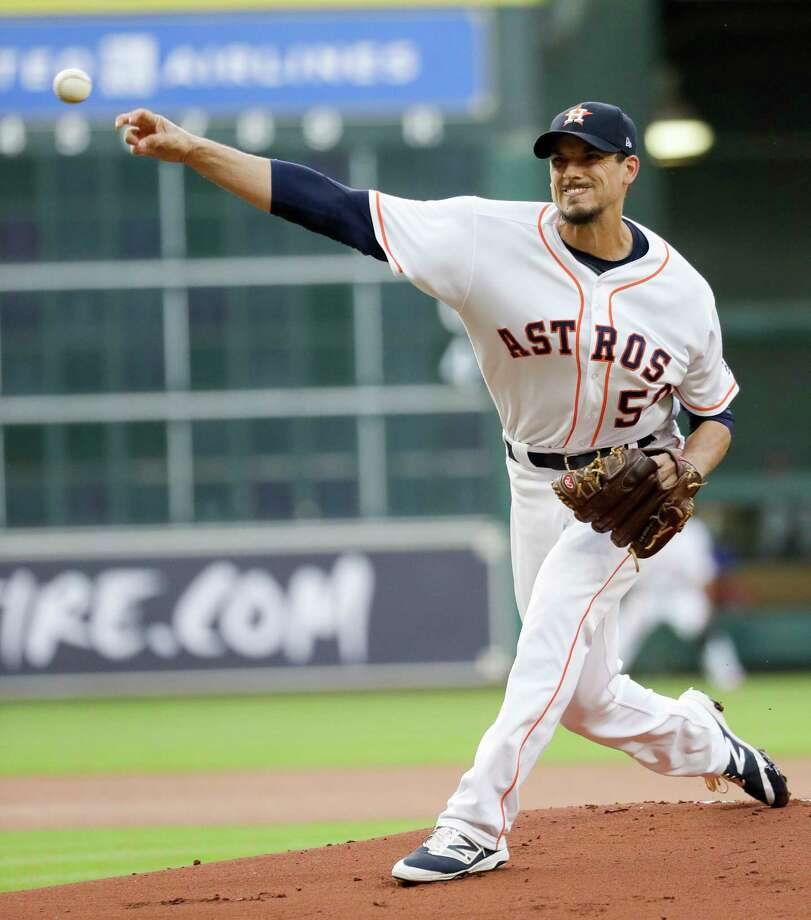 Astros sinkerballer Charlie Morton will kick off a three-game series against the Indians when he takes the mound Friday. Photo: David J. Phillip, Associated Press / Copyright 2017 The Associated Press. All rights reserved.