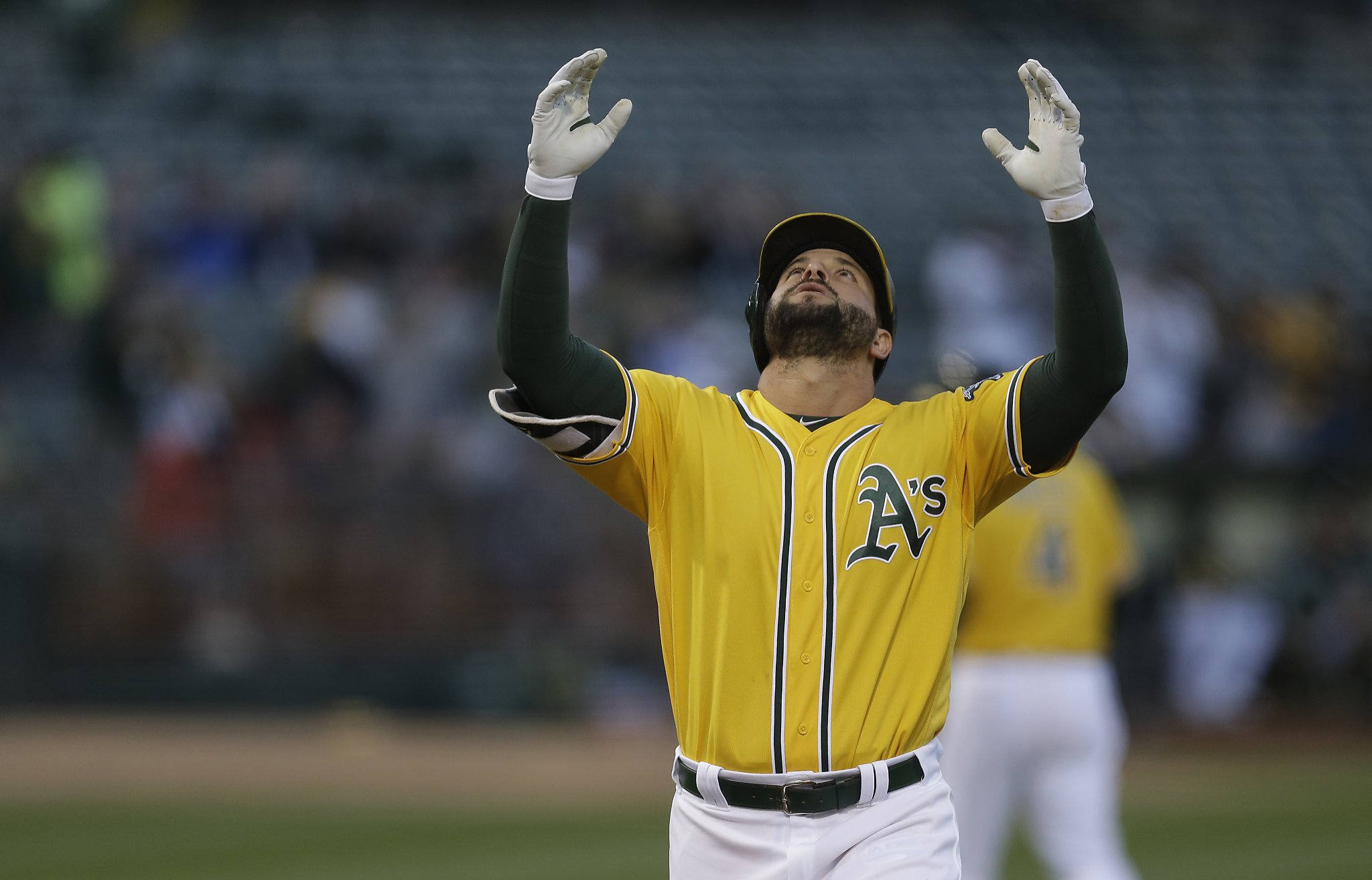 Yonder Alonso out of A's lineup again, bench will be thin ...