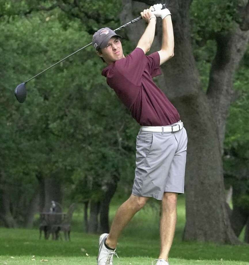 TAMIU's Parker Holekamp is tied for third place along with teammate Santiago Garcia heading into the final round of the Our Lady of the Lake Saints Classic. The Dustdevils ended Monday seven strokes off the lead in second place in the team standings. Photo: Courtesy Of TAMIU Athletics /file