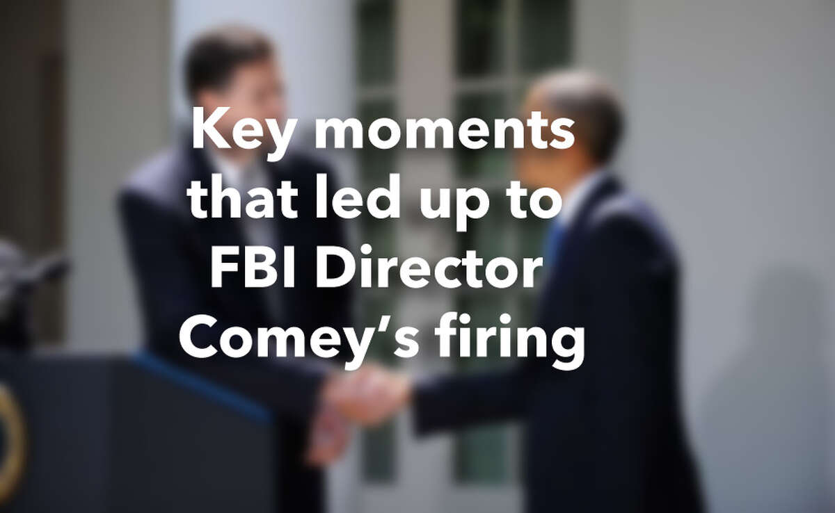 Key moments that led up to FBI Director Comey's firing. Compiled by reports from the Associated Press, New York Times and Washington Post.