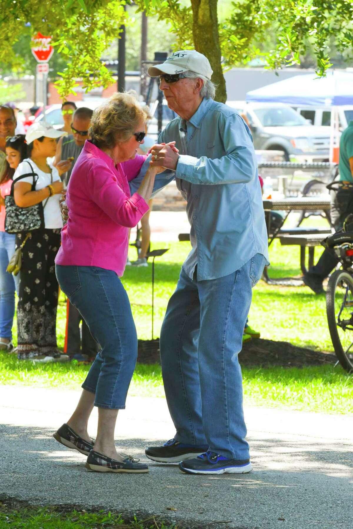 Joyce and Syl Kontowicz dance away the time at the Mudbug Festival