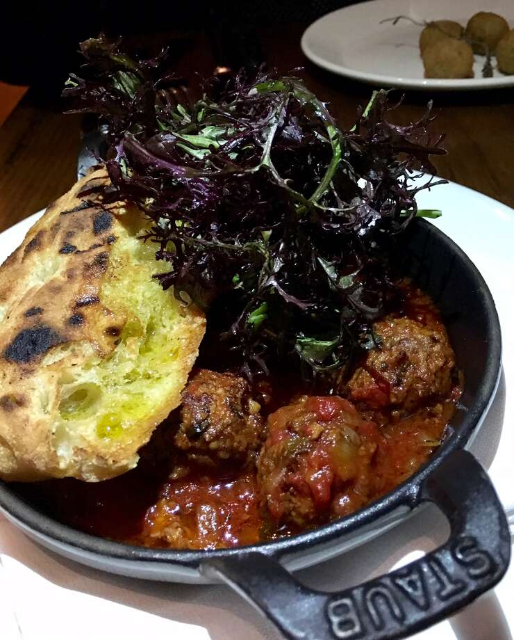 Lamb meatballs with spicy tomato sauce ($15)